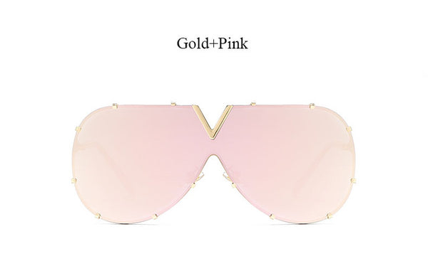 V Shaped Mirror Designer Flat Top Sunnies