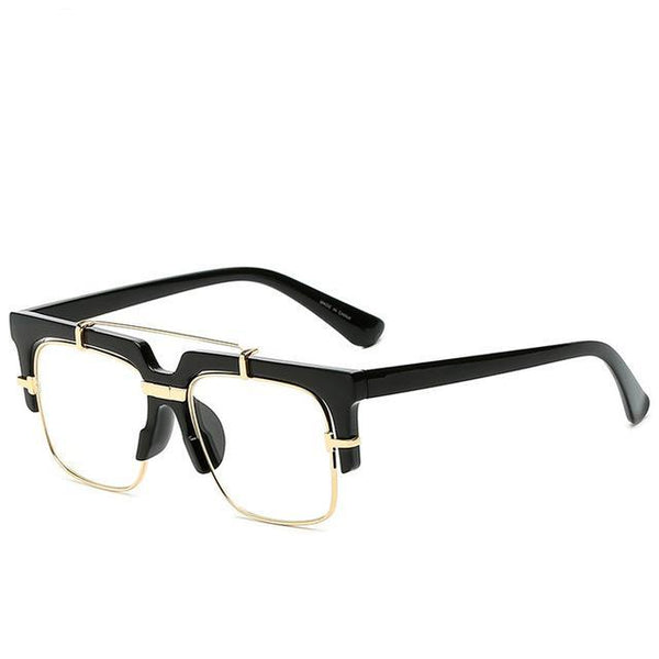 Semi-Rimless Square Eyewear