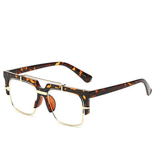 Semi-Rimless Square Eye wear tortoiseshell