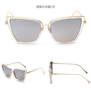 Large Hip Cat Eye Sunglasses