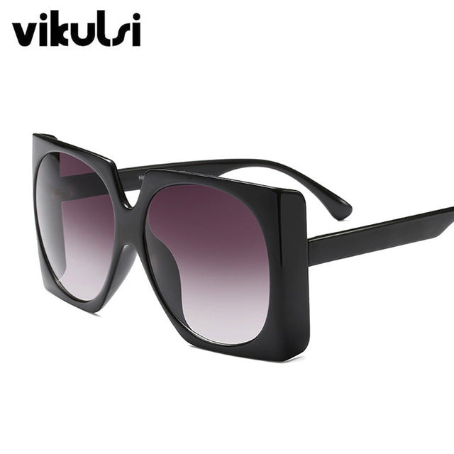 Retro Thick Edge Big Frame Square Sunglasses