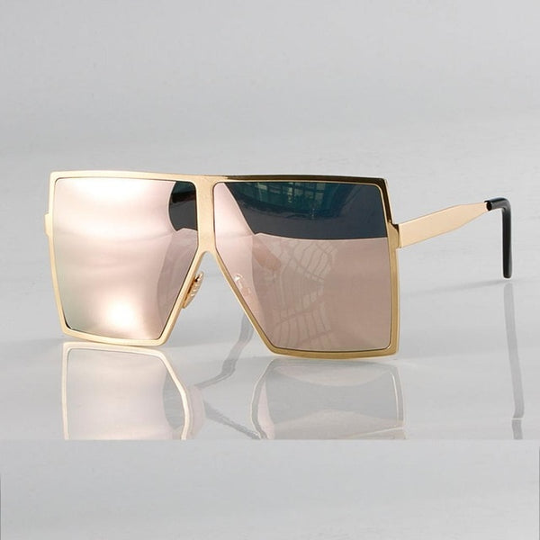 Large Metal Frame Square Womens Shades