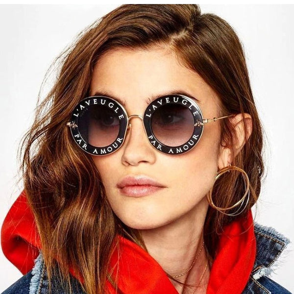 Retro Round Little Bee Sunglasses