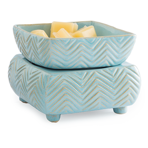 Blue Chevron ~ 20 Watt Hot Plate Fragrance Warmer - Epic Wax