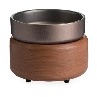 Pewter Walnut ~ 20 Watt Hot Plate Fragrance Warmer - Epic Wax