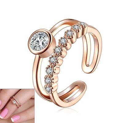 Lovely Adjustable Ring with Crystal Gemstone