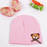 Baby Beanie Hat with White Dot Pattern Designs