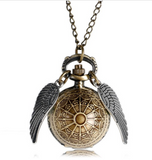 Antique Golden Snitch Quidditch Quartz Pocket Watch