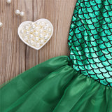 Little Mermaid Princess Ariel Costume Dress for Baby Girls