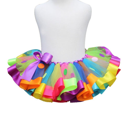 Rainbow Colors Chiffon Tutu Skirt