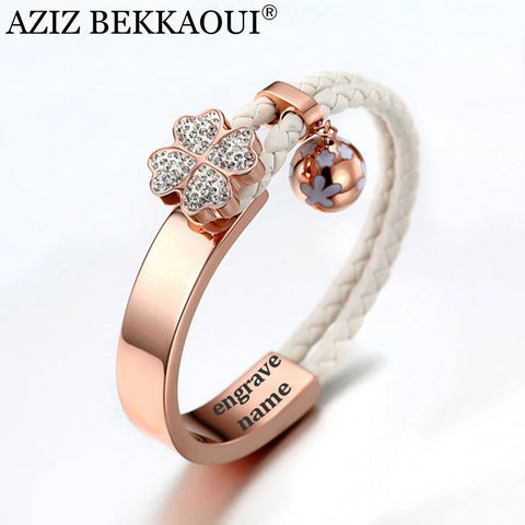 Charming Rose Gold Bangles with 3D Crystal Flower
