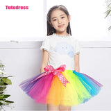 Handmade Rainbow Tutu Skirt For Girls