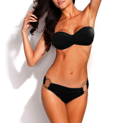 Stunning Brazilian Plain Colored Bikini Swimwear