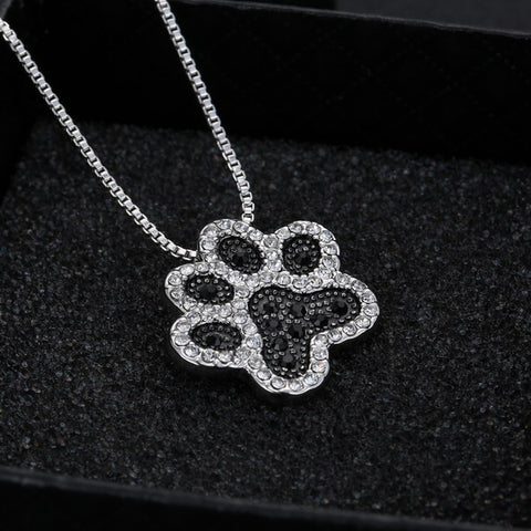 Trendy Necklace with Charming Dog Paw Pendant