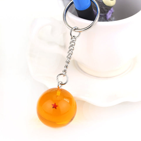 7 Pieces of Dragon Ball Keychain With Star Designs