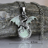 Mystical Game of Thrones Glow in the Dark Dragon Necklace