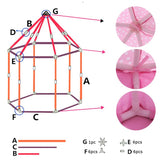 Lovely Portable Pink Children Playhouse Tent