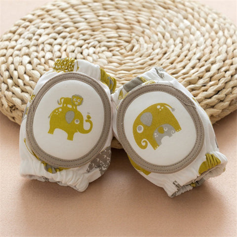 Baby Knee Pads with Elephant Print Design