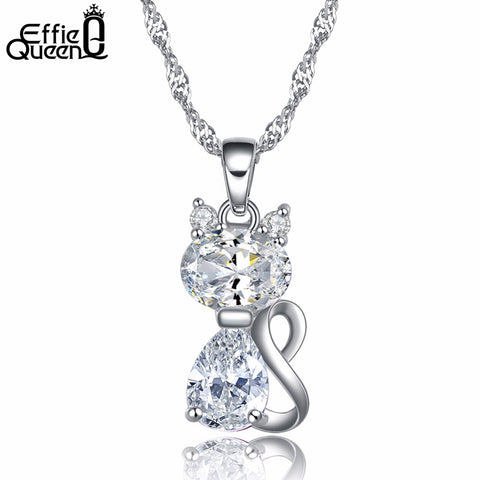 Lovely Necklace with Cute Cat Pendant