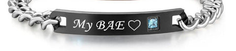 Charming My Boo and My Bae Couple Bracelets