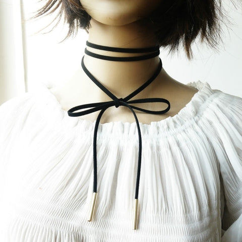 Trendy Thin Gothic Choker Necklace Set