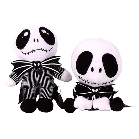 Mischievous Black and White Skeleton Plush Stuffed Toy