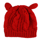 Charming Winter Knitted Cat Ear Hat
