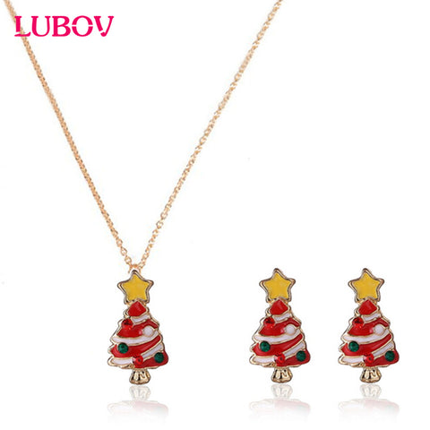 Fashionable Christmas Necklace with Matching Earrings
