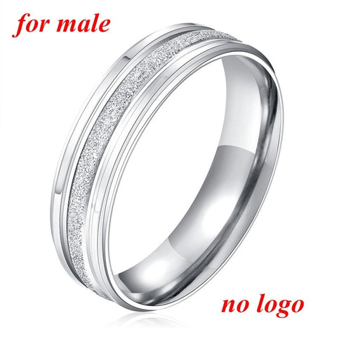 Stainless Steel Personalized Engraving Couple Ring
