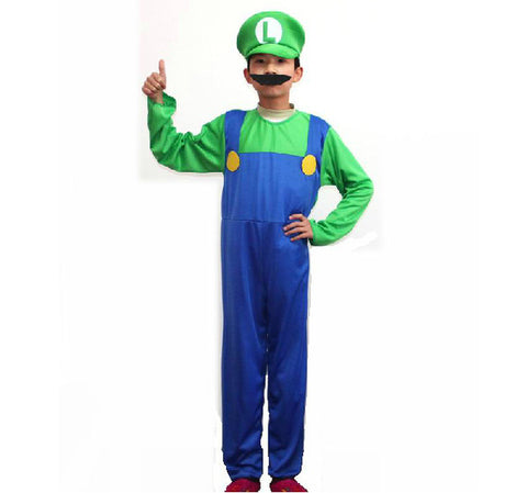 Super Mario and Luigi Costume Outfit for Adult and Kid