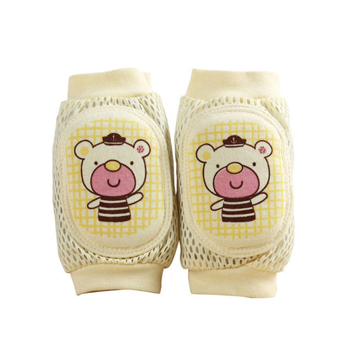 Cotton Mesh Baby Knee Pads with Crawl Protector