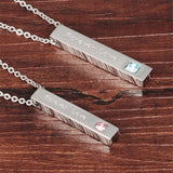 Couple Necklaces with Steel Boxed Personalized Forever Love Pendant
