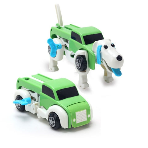 Unique Wind Up Dog Robot Transforming Cars