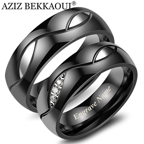 Stylish Wedding Rings with Free Engrave