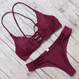 Tempting Thin String Low-Waist Bikini Swimwear
