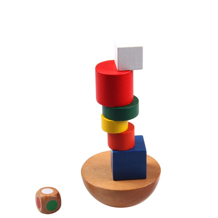 Montessori Geometric Blocks Balancing Toy - eBabyZoom
