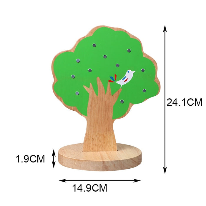 Montessori Math Early Learning Magnetic Apple Tree - eBabyZoom