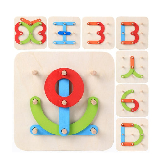 Montessori  Creative Building Geometry Board - eBabyZoom