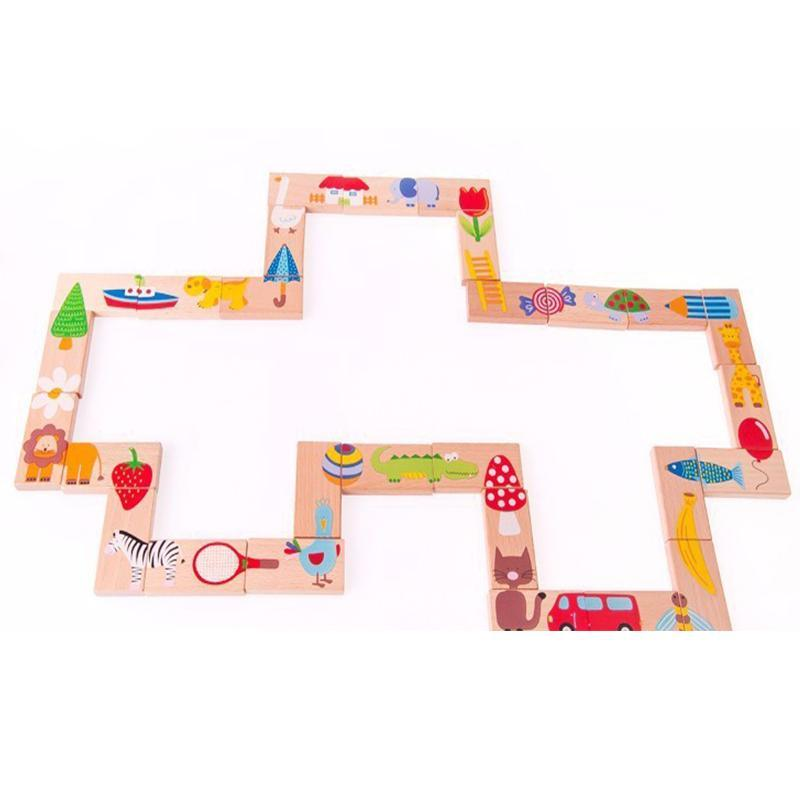 Montessori Animal Domino Building Blocks - eBabyZoom