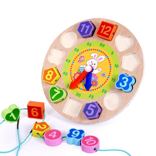 Montessori Animal Lacing Clock - eBabyZoom
