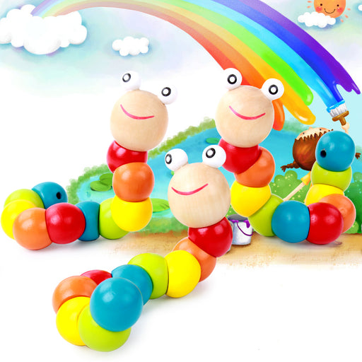 Montessori Baby Color Worm Toy - eBabyZoom