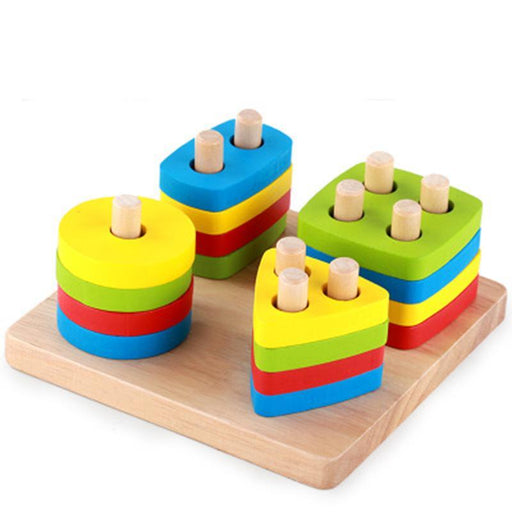 Montessori Wooden jointed shape board