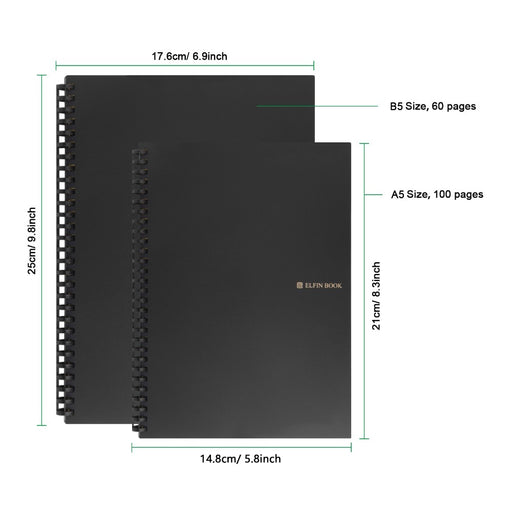 Elfinbook 2.0 Smart Reusable Erasable Notebook - eBabyZoom