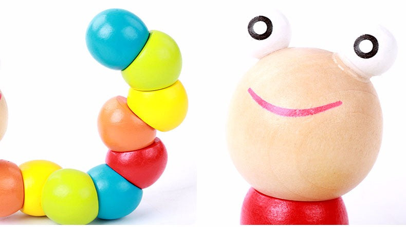 Baby Colored Worm Toy