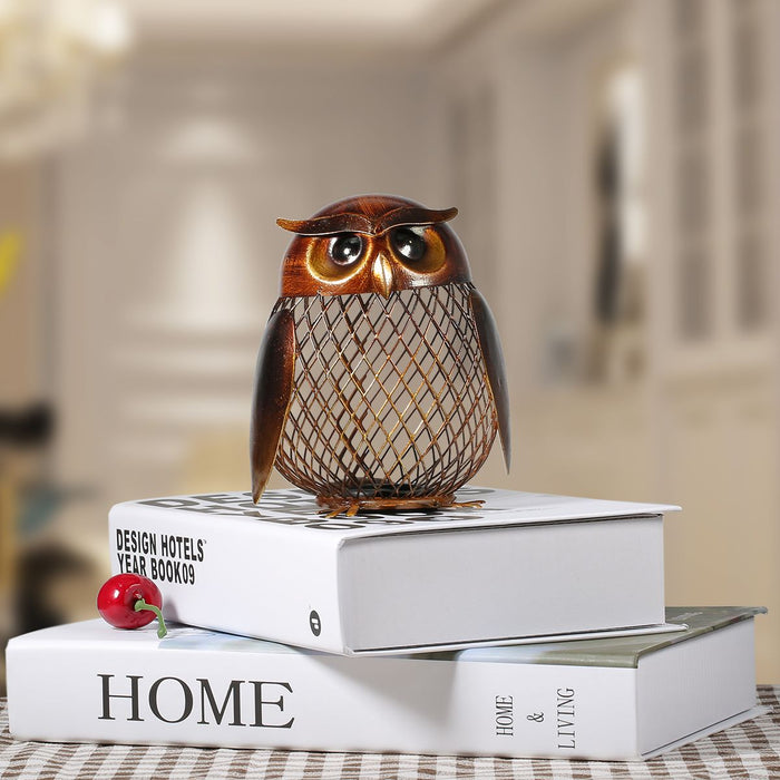 Owl Metal Piggy Bank Money Saving Box - eBabyZoom