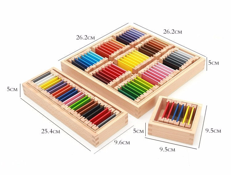 Montessori wood sensory Color box - eBabyZoom