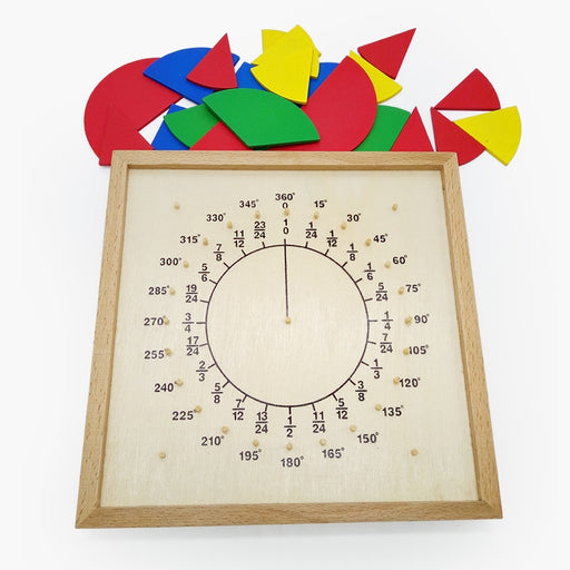 Montessori Math Fractional Plate Circumference Ratio