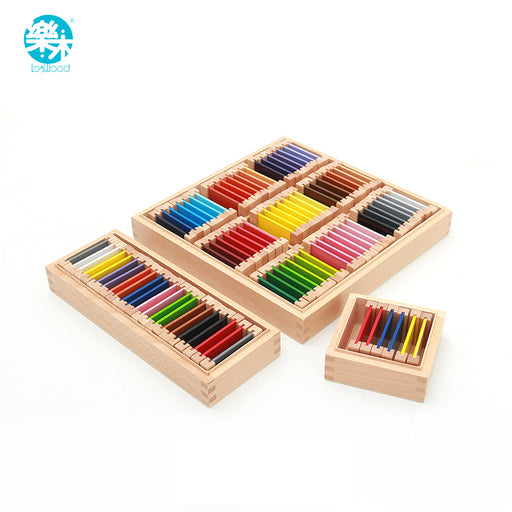 Montessori wood sensory Color box