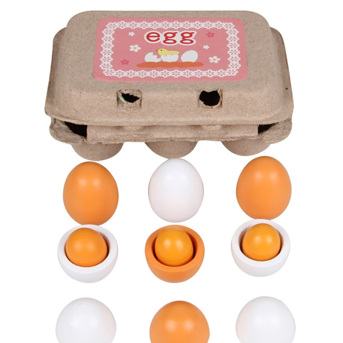 Montessori Wooden Eggs Pretend Play