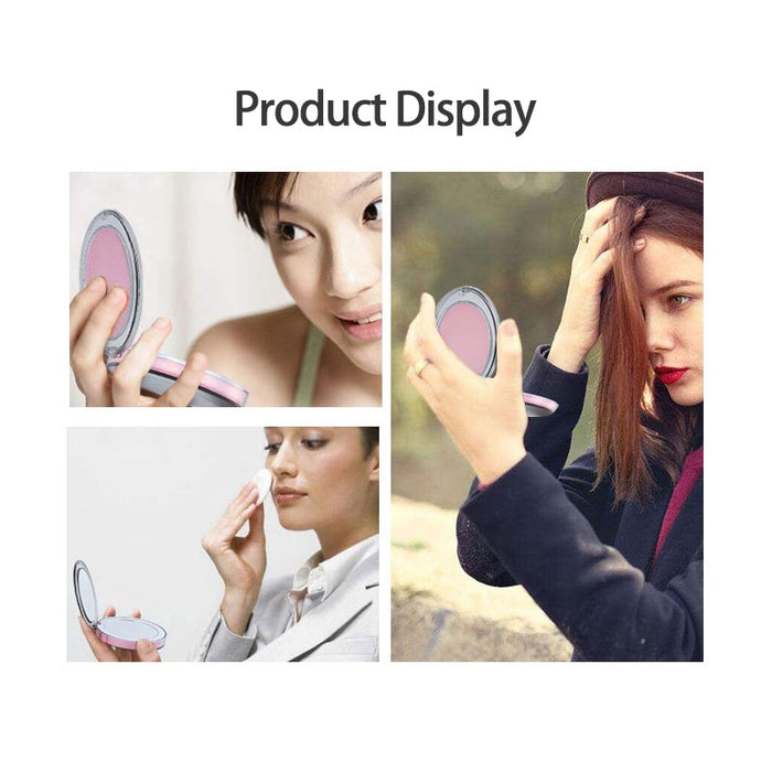 LED Makeup Mirror with Light Bulb Touch Sensor Vanity light Portable 1X 3X Magnify USB Rechargeable Backlight Lamp on Mirror - eBabyZoom